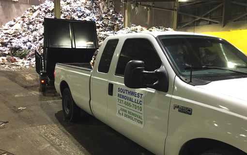 Southwest Removal Recycling Debris Services Clearwater FL Tampa FL St Pete FL
